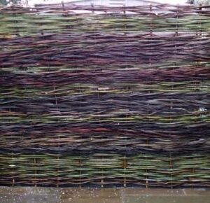 colourful willow fencing