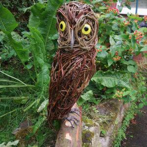 Living Willow Sculpture of an owl